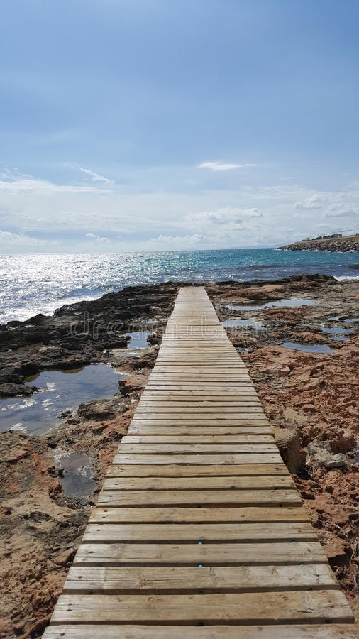 Promenade de mer images libres de droits