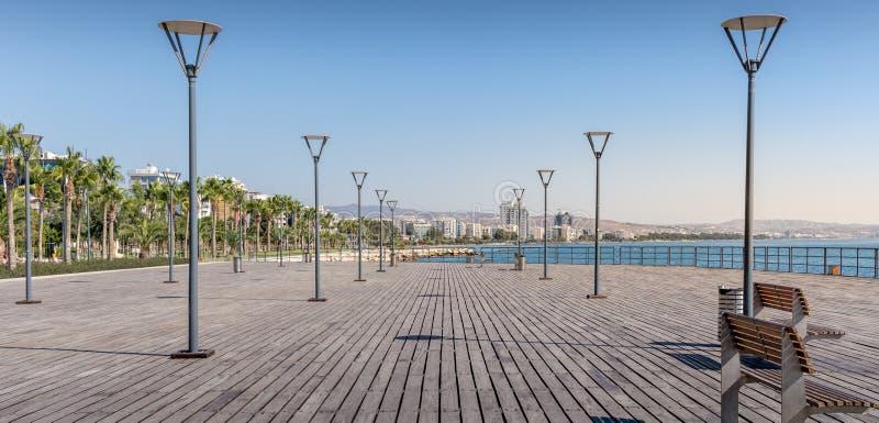 Promenade de molos de Limassol image libre de droits