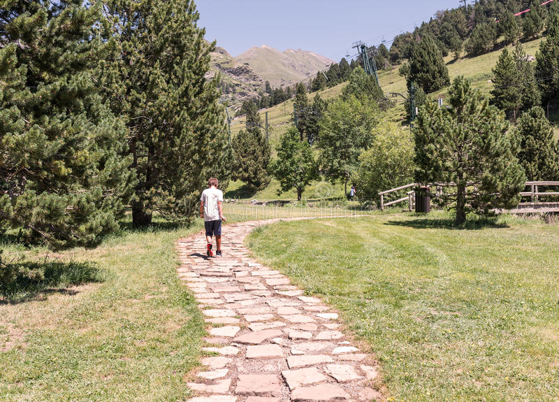 Promenade de montagne image stock
