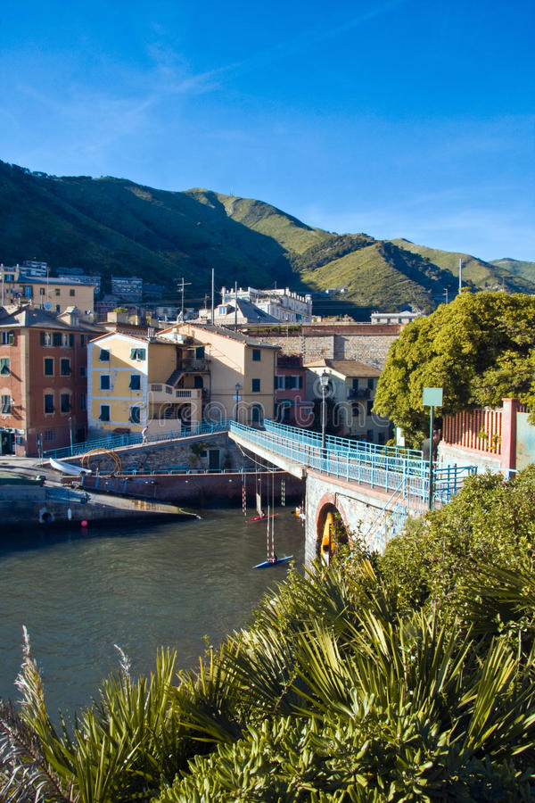 'promenade' de Nervi en Génova fotografía de archivo