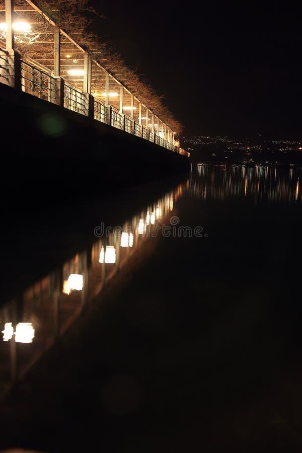 'promenade' de Night fotografía de archivo