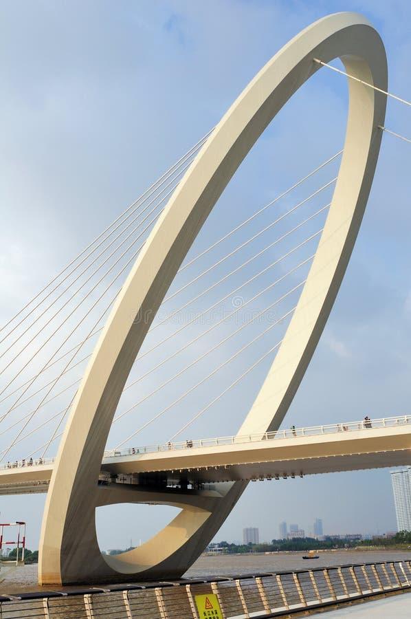 Promenade de pont d'oeil de Nanjing images libres de droits
