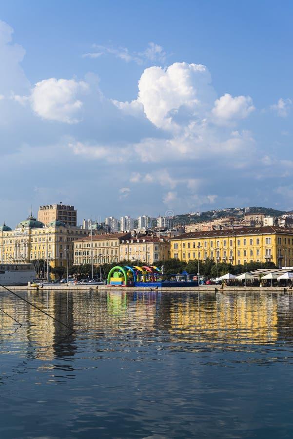 'promenade' de Riva, Rijeka, Croacia fotos de archivo