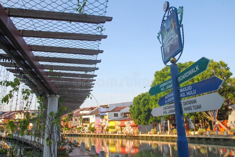 Promenade de rive de Melaka photo stock