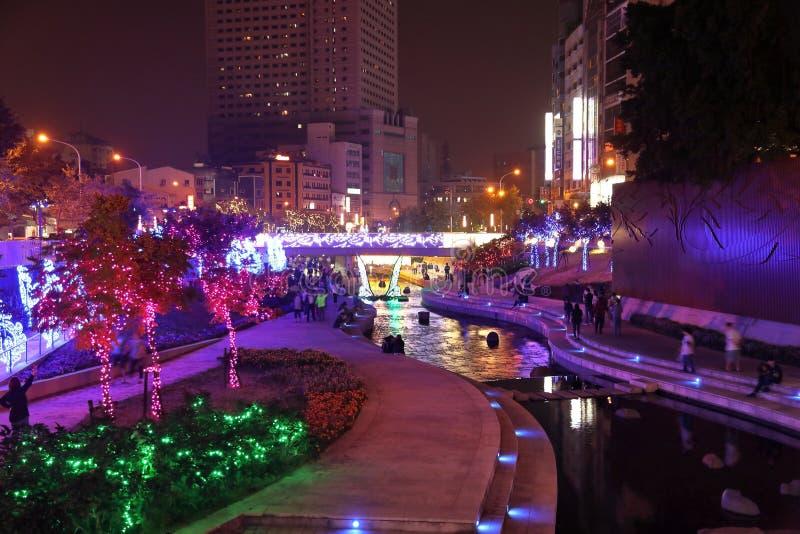 Promenade de rive de Taichung photo libre de droits