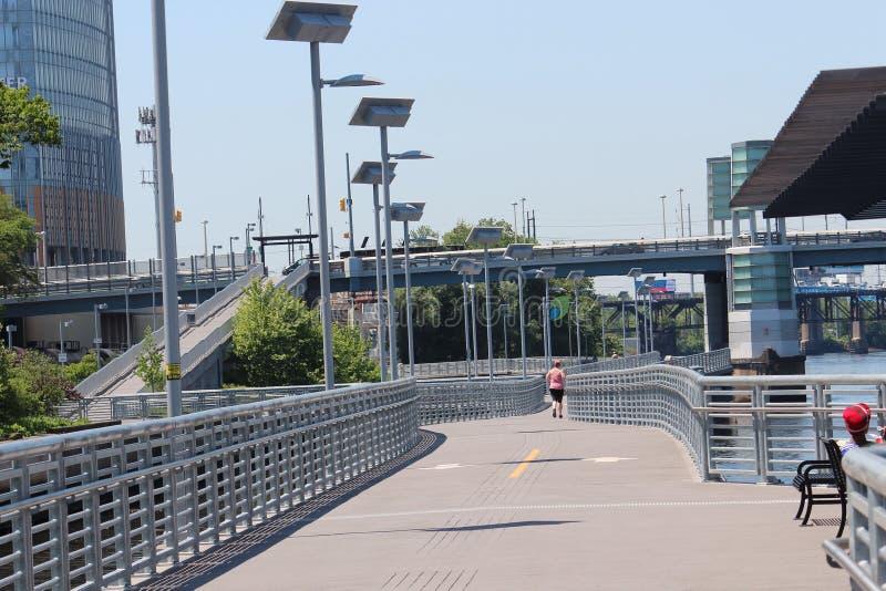 Promenade de rivière dans Philly photo stock