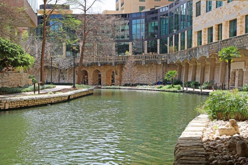 Promenade de rivière de San Antonio images libres de droits