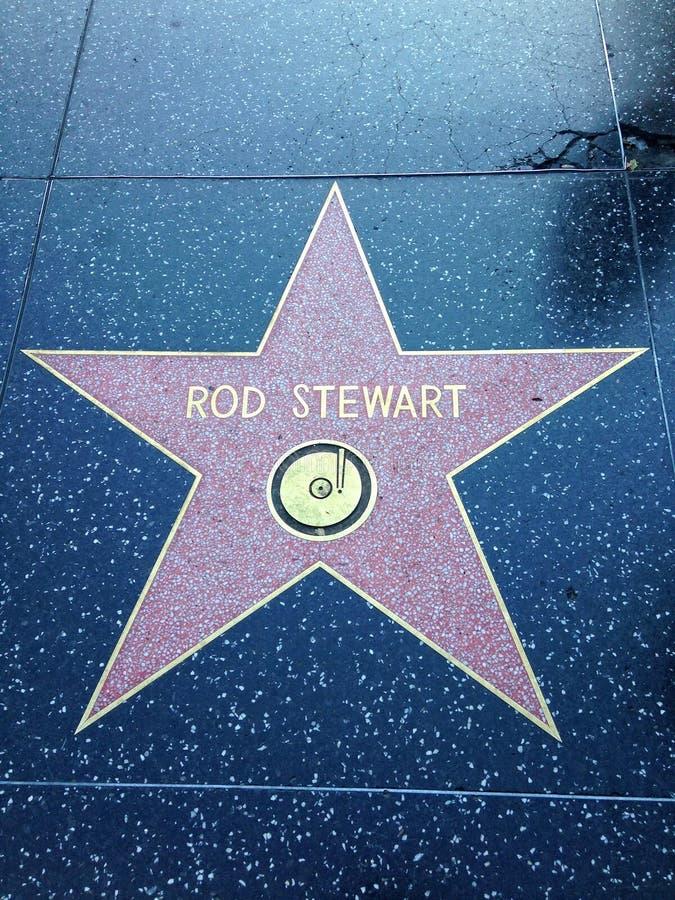 Promenade de Rod Stewart Hollywood d'étoile de renommée image stock