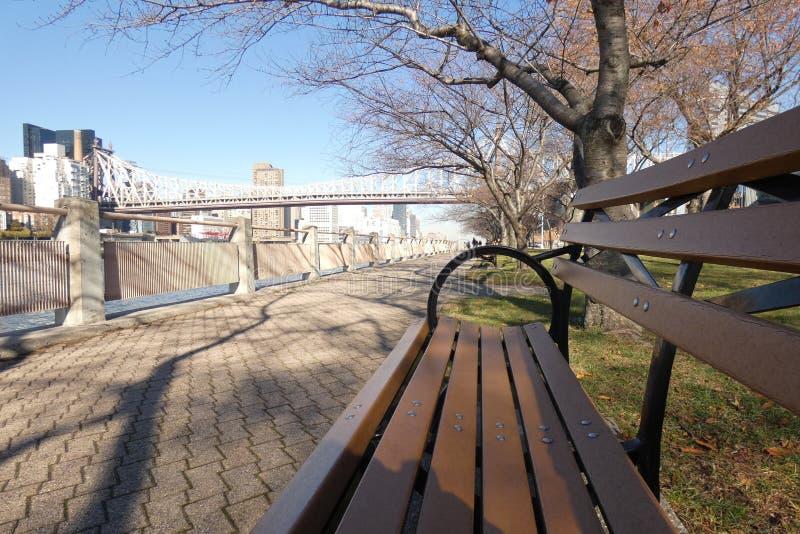 Promenade de Roosevelt Island images libres de droits