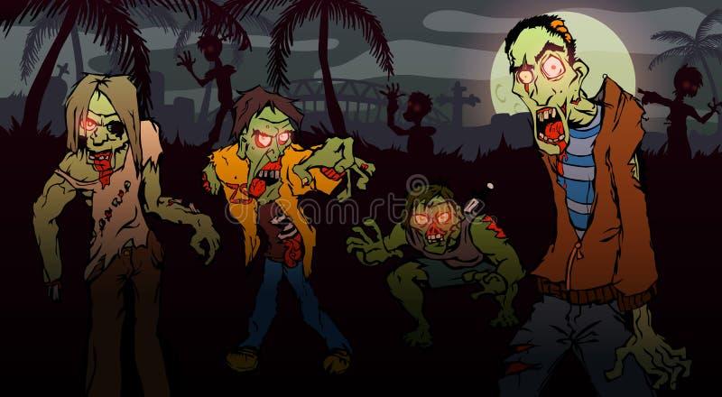 Promenade de zombi illustration de vecteur
