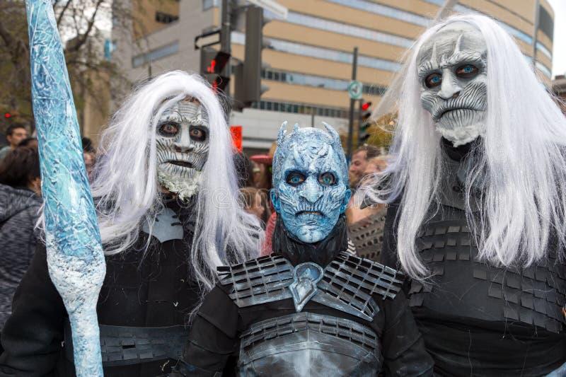 Promenade 2017 de zombi de Montréal photos libres de droits