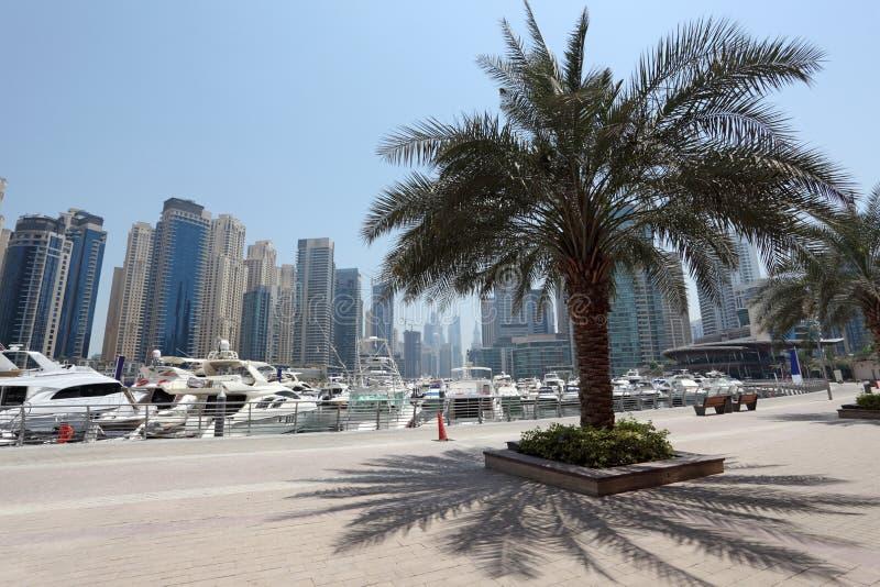 'promenade' del puerto deportivo de Dubai imágenes de archivo libres de regalías