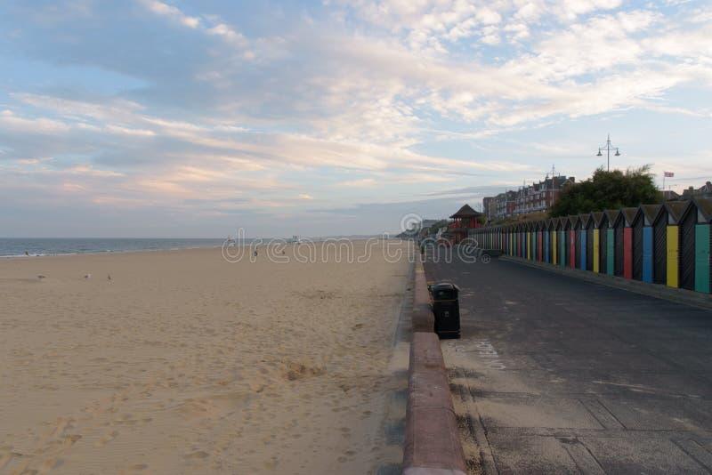 Promenade del sud della spiaggia di Lowesoft fotografie stock