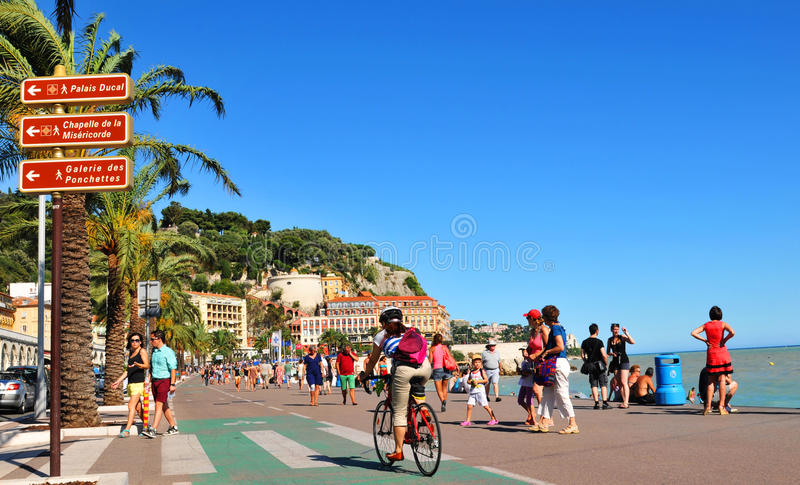 Promenade des Anglais in Nice, France royalty free stock photos