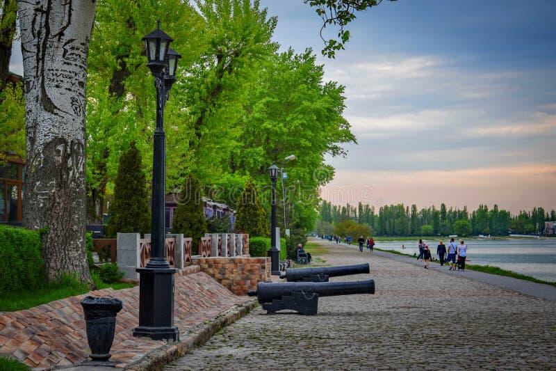 Promenade di Azov a Taganrog fotografia stock