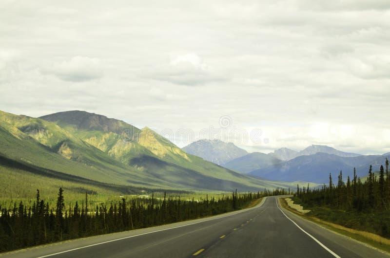 Promenade en voiture Alaska images libres de droits