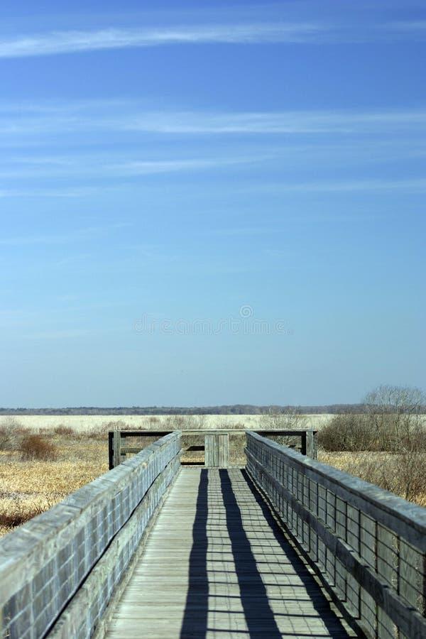 Promenade et ciel images stock