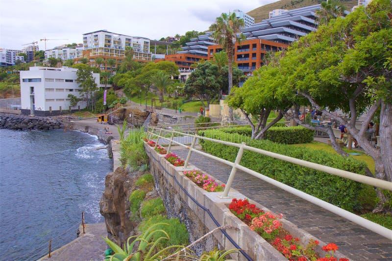 Promenade in Funchal, Madera, Portugal royalty-vrije stock foto