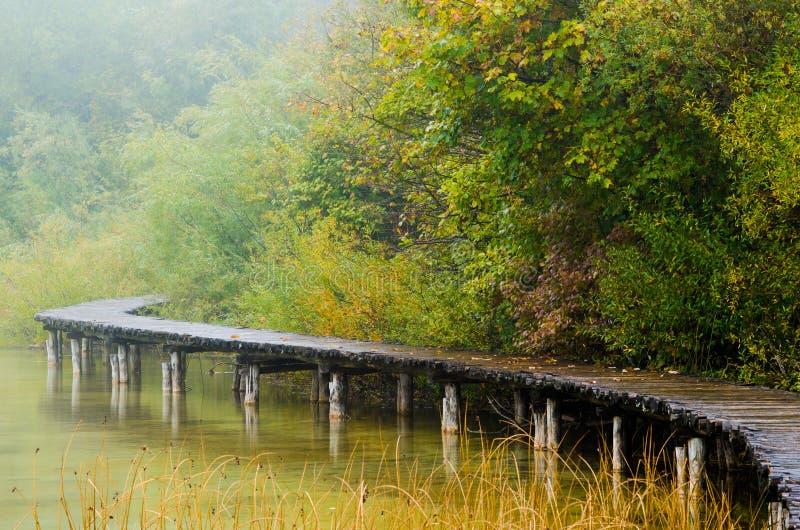 Promenade im Regen stockfotografie