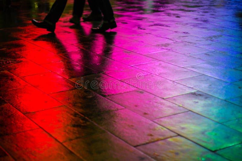 Promenade IV d'arc-en-ciel photos stock
