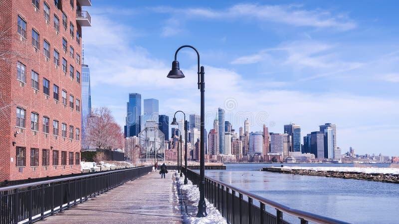 Promenade in Jersey City stock foto