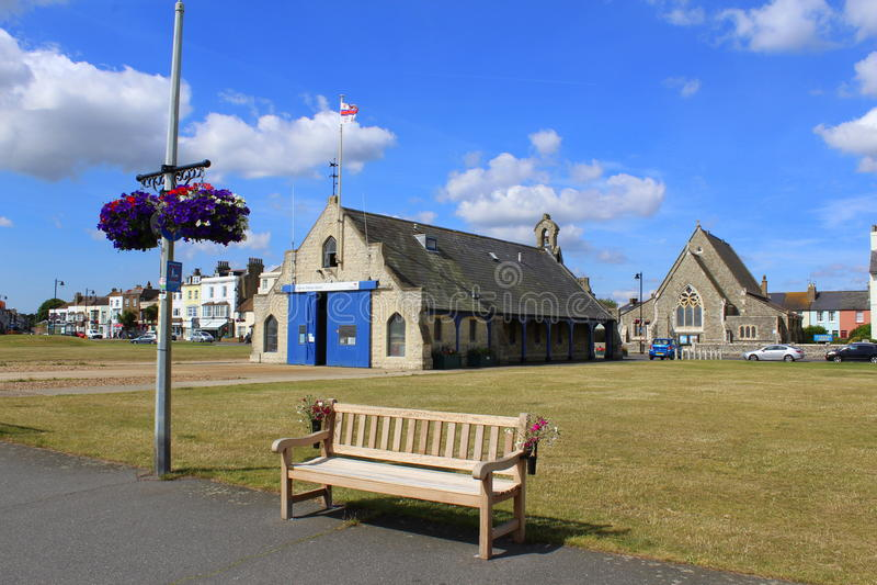 Promenade Kent England de Walmer photographie stock