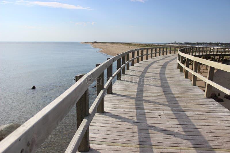 Promenade La Dunes de Bouctouche New-Brunswick lizenzfreies stockfoto