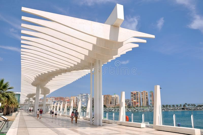 Promenade in Malaga Spain stock image