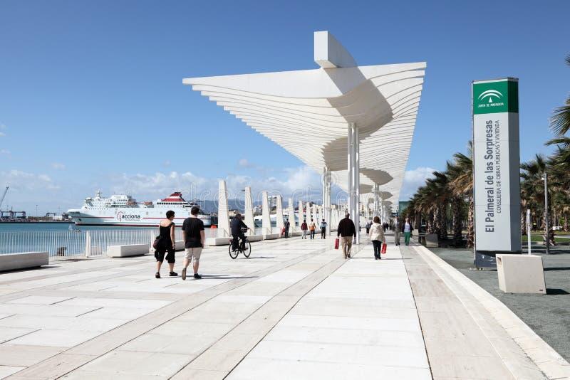 Promenade in Màlaga, Spanien lizenzfreies stockfoto