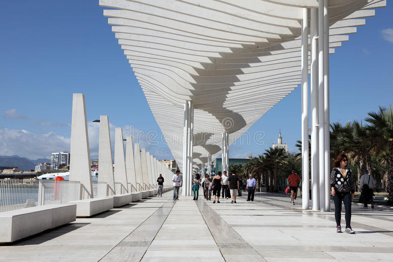 Promenade in Màlaga, Spanien lizenzfreies stockbild