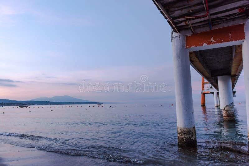 Promenade an Morong-Strand, Bataan, Philippinen lizenzfreies stockbild