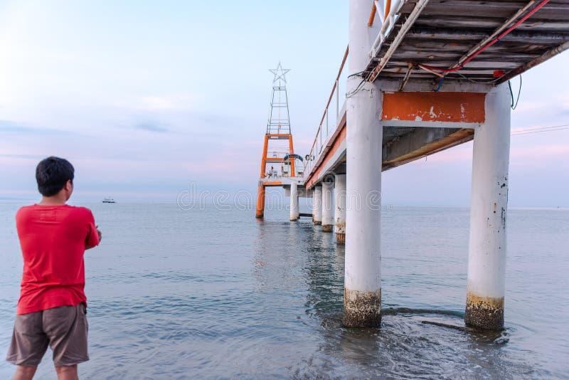 Promenade an Morong-Strand, Bataan, Philippinen lizenzfreie stockfotos