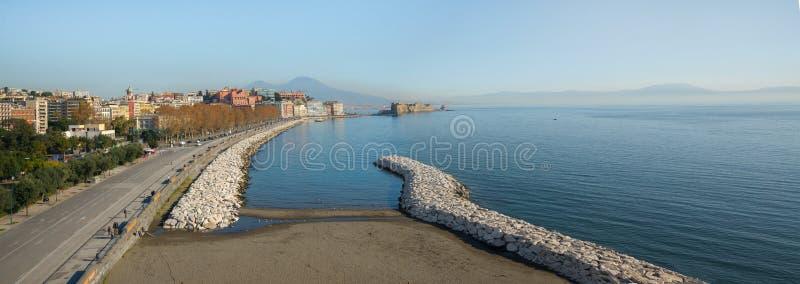 Download Promenade of Naples editorial stock image. Image of fish - 83710774