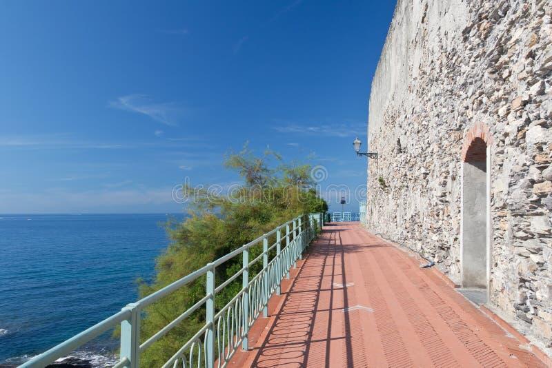 Download Promenade In Nervi, Genova Royalty Free Stock Images - Image: 16626449