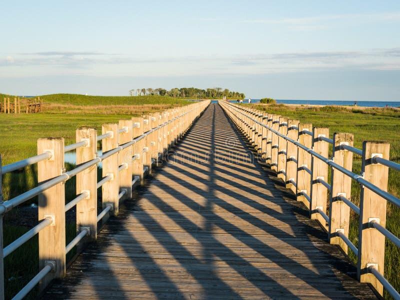 Promenade, perspective avec de principales lignes de disparaition de point et modèle d'ombre photo libre de droits