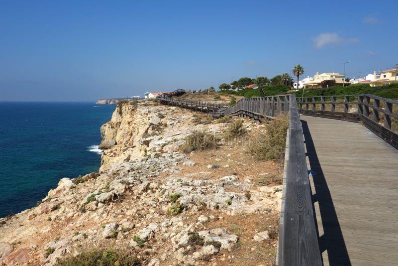 Promenade/Portugal de Carvoeiro images stock
