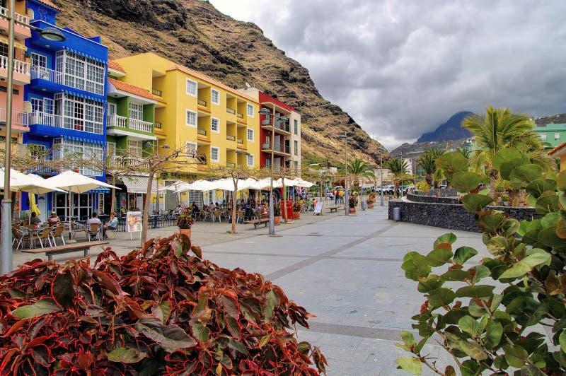 Promenade in Puerto de Tazacorte, La Palma, Spain royalty free stock photography