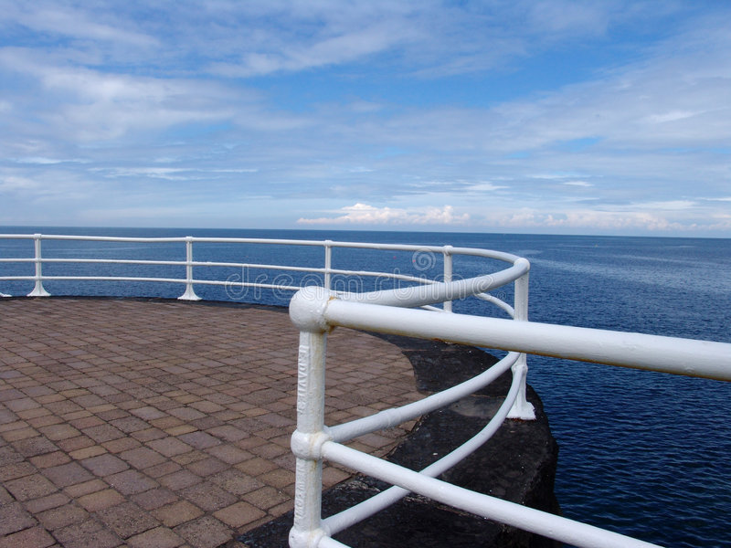 Download Promenade Railings On Seafront Stock Photo - Image: 1245400