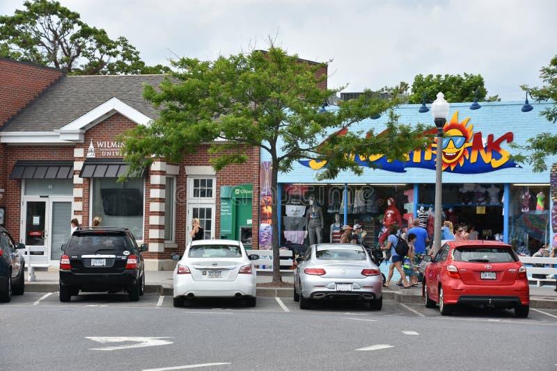 Promenade an Rehoboth-Strand in Delaware lizenzfreies stockfoto