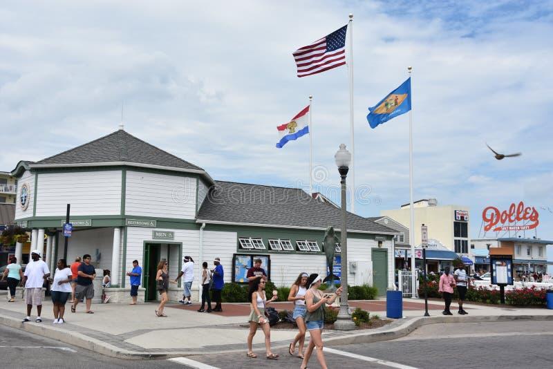 Promenade an Rehoboth-Strand in Delaware stockbild