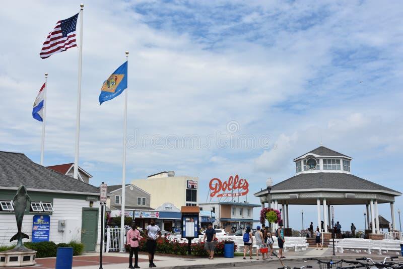 Promenade an Rehoboth-Strand in Delaware stockfotografie
