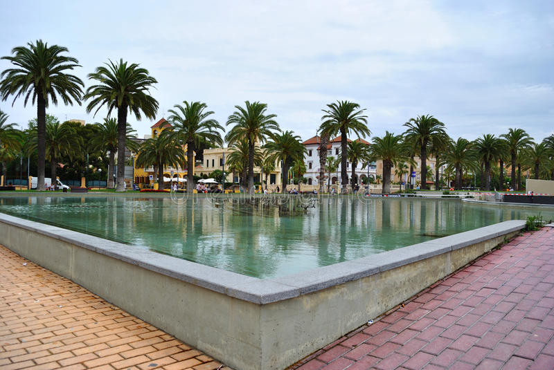 Promenade of Salou. Salou is considered the capital of the Costa Dorada, being the most important tourist destination royalty free stock photos