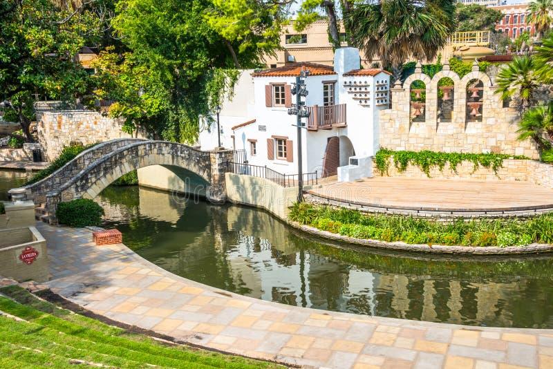 Promenade San Antonio Texas de rivière de théâtre de rivière d'Arneson images stock