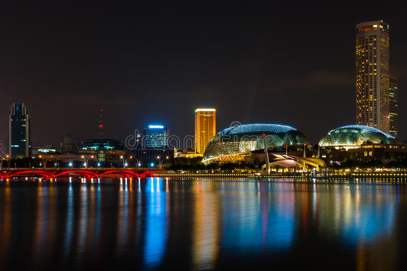 Promenade, Singapore stock foto's