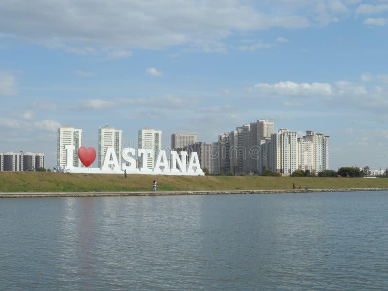 Promenade sur le bateau de moteur - amour Astana d'I photographie stock
