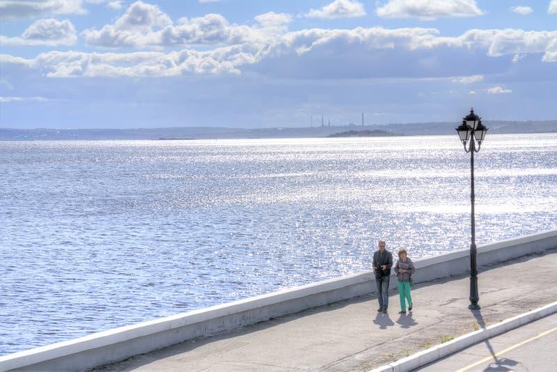 Download Promenade Sur Le Remblai Des Cosmonautes Image stock éditorial - Image du grand, côte: 77153129