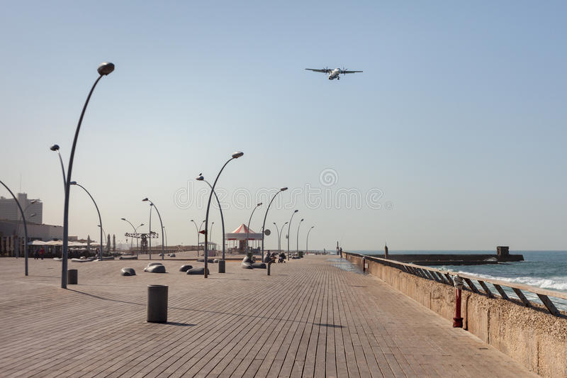 Promenade in Tel Aviv. royalty free stock photos