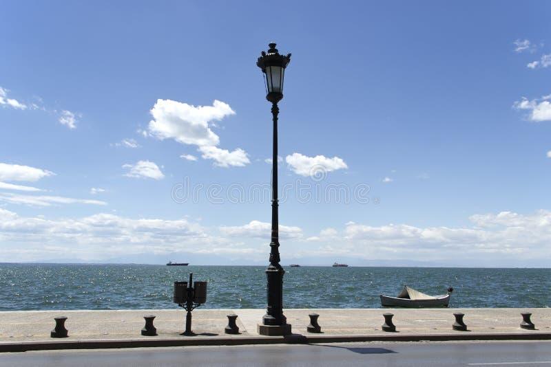 Promenade in Thessaloniki stock foto's