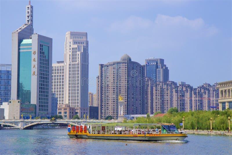Promenade in Tianjin, China royalty-vrije stock afbeeldingen