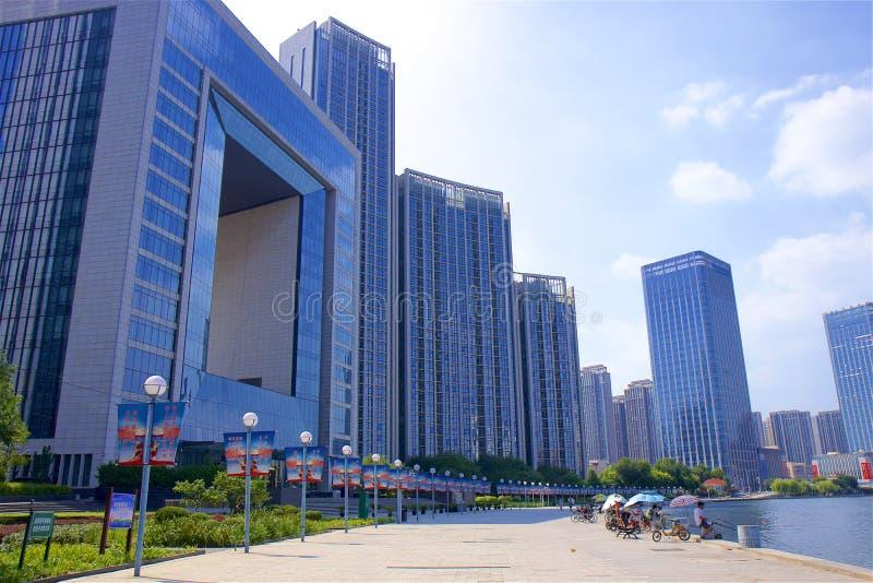 Promenade in Tianjin, China stock foto
